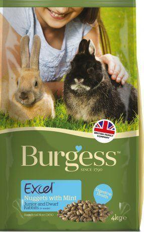 Burgess Excel para conejos jóvenes con menta.