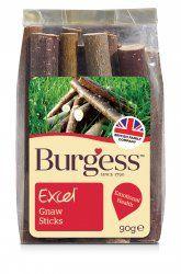 Burgess excel gnaw sticks- maderas de varios arboles.