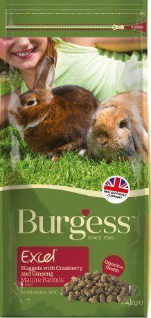 Burgess Excel para conejos adultos con arándano y ginseng.